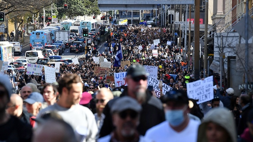Image for read more article 'Sydney's anti-lockdown protest has 'real risk' of becoming a super-spreader event, expert warns'