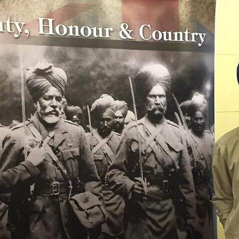 Mr Harchand Singh Bedi with his photographic exhibition