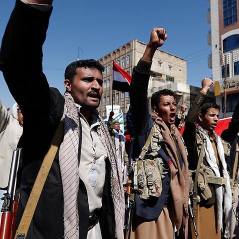 Yemen blockade protest
