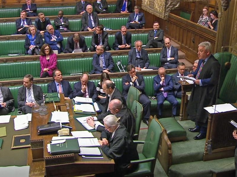 A file image of Speaker John Bercow addressing the House of Commons