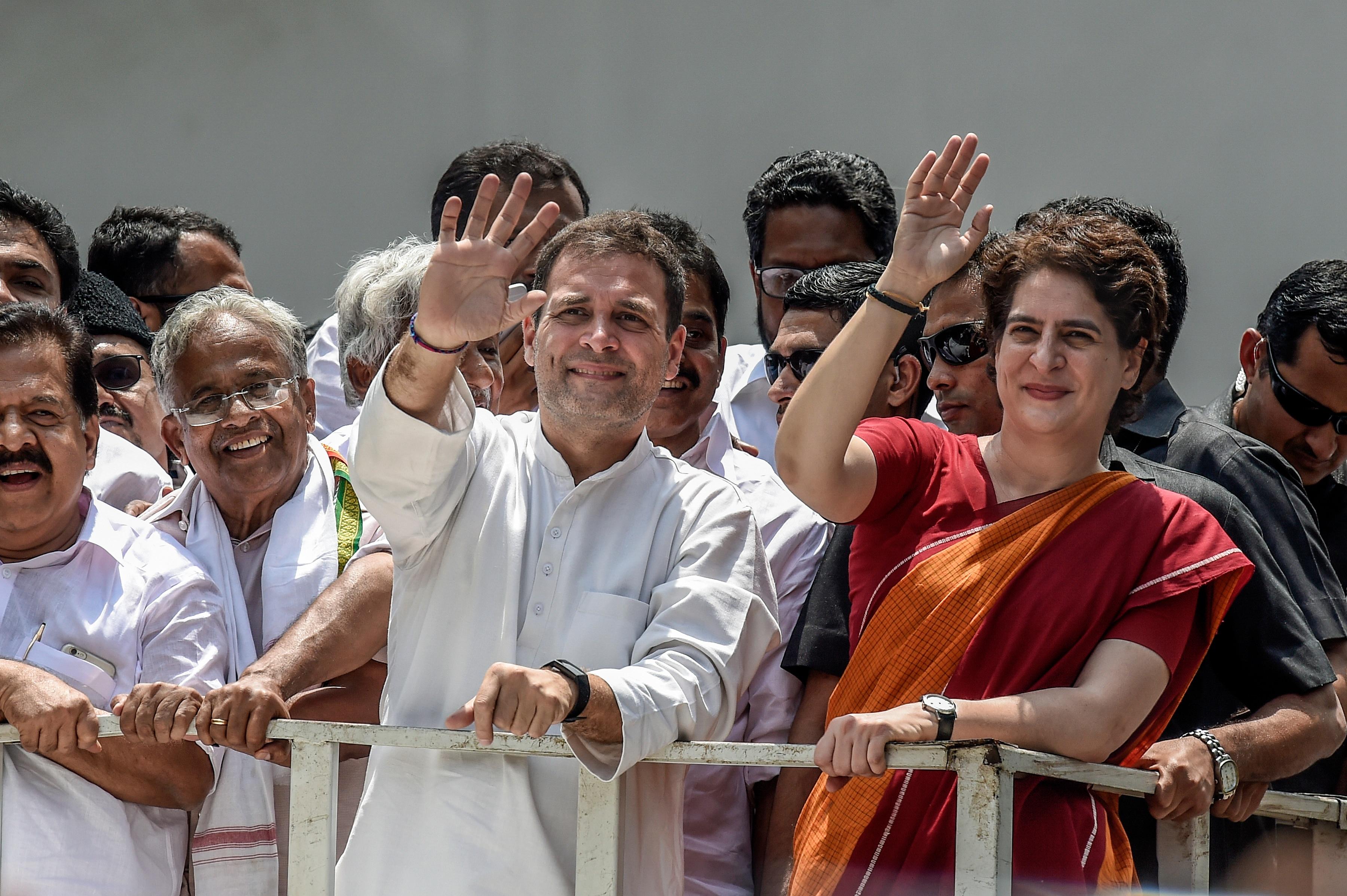 Mr Gandhi's sister Priyanka is a popular figure.