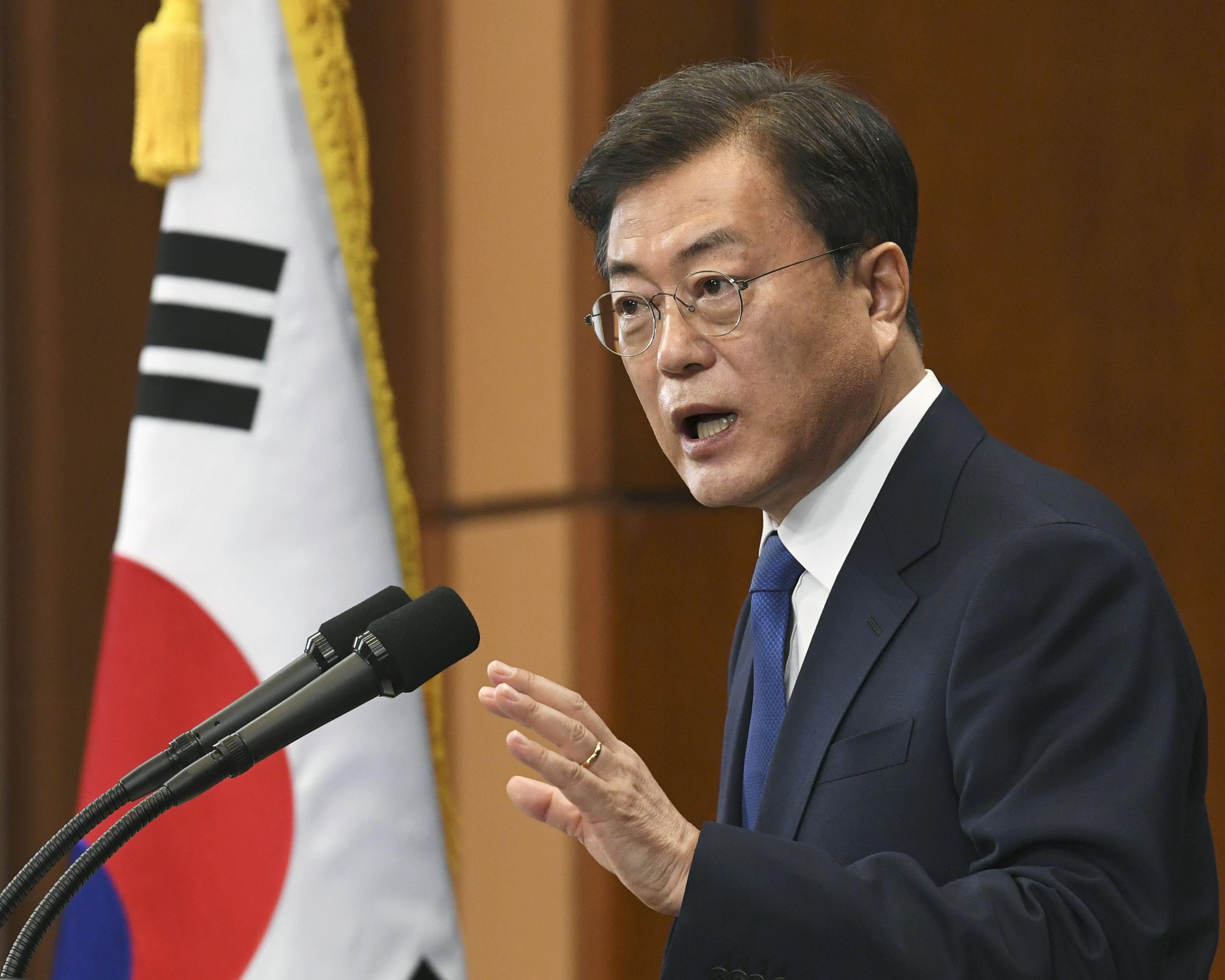 South Korean President Moon Jae warns of a second wave of coronavirus.