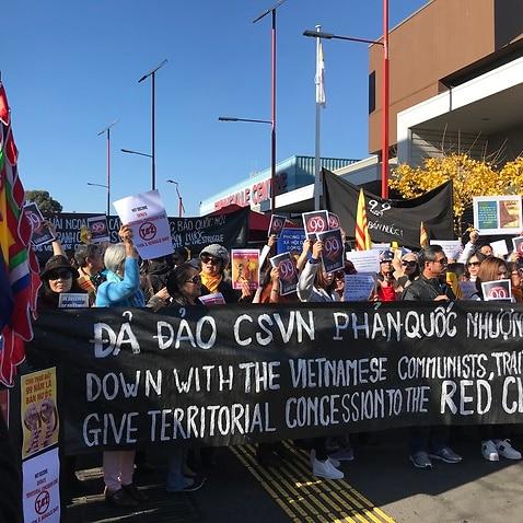 Người Việt tại Melbourne biểu tình chống Dự luật Đặc khu và Dự luật An ninh mạng của Quốc hội Việt Nam