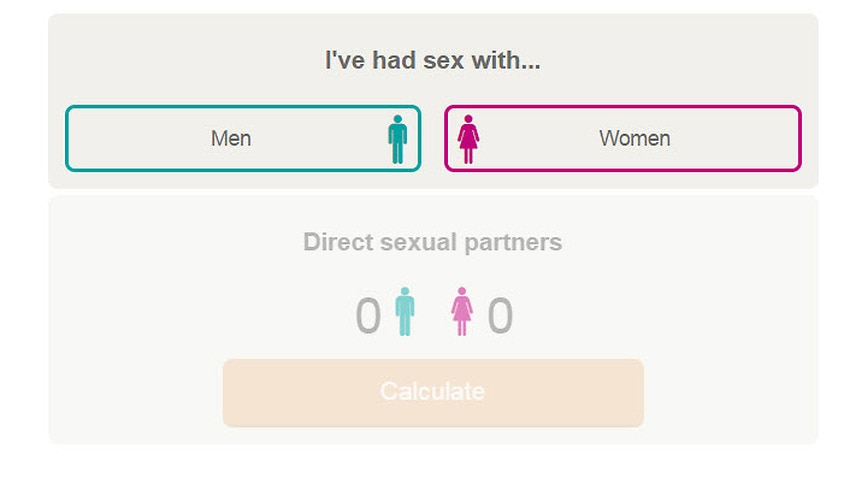 Indirect sexual partner calculator