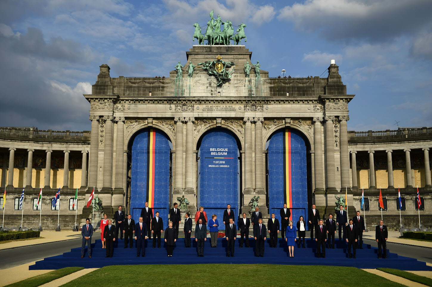 NATO leaders at the Parc du Cinquantenaire in Brussels.