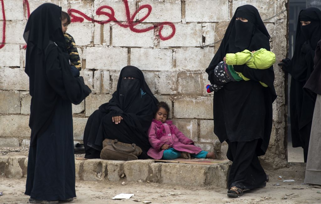Muslim women in Syrian camp