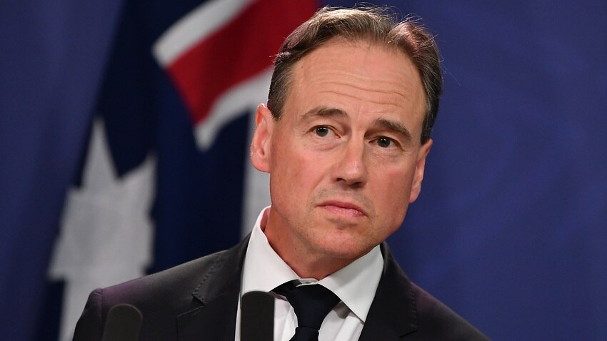 Federal Health Minister Greg Hunt on Tuesday.