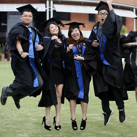 graduation photo shoot at Curtin University , Western Australia, Australia, 2012.