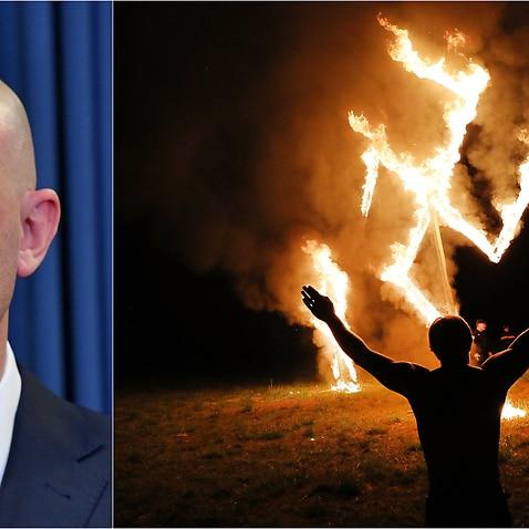 ASIOのボス、マイクバージェスはネオナチスが国の最も挑戦的な安全保障問題の1つであると警告します。
