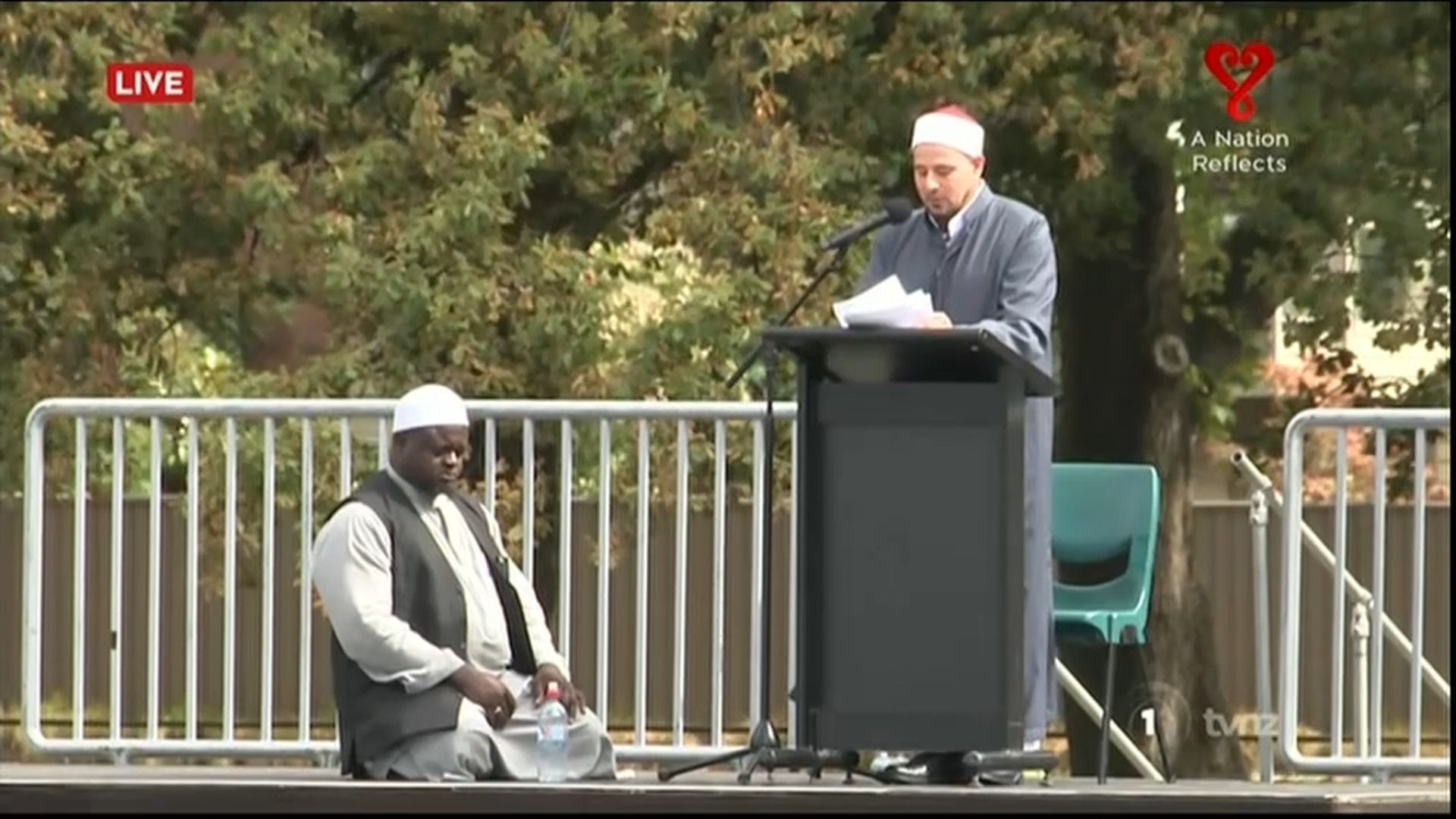 Gamal Fouda, the imam of Al Noor mosque, delivering his sermon.