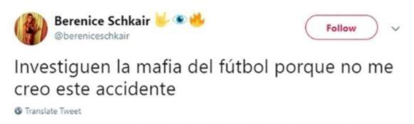 The deleted tweet pointed to the football mafia as being behind Emiliano Sala's disappearance.