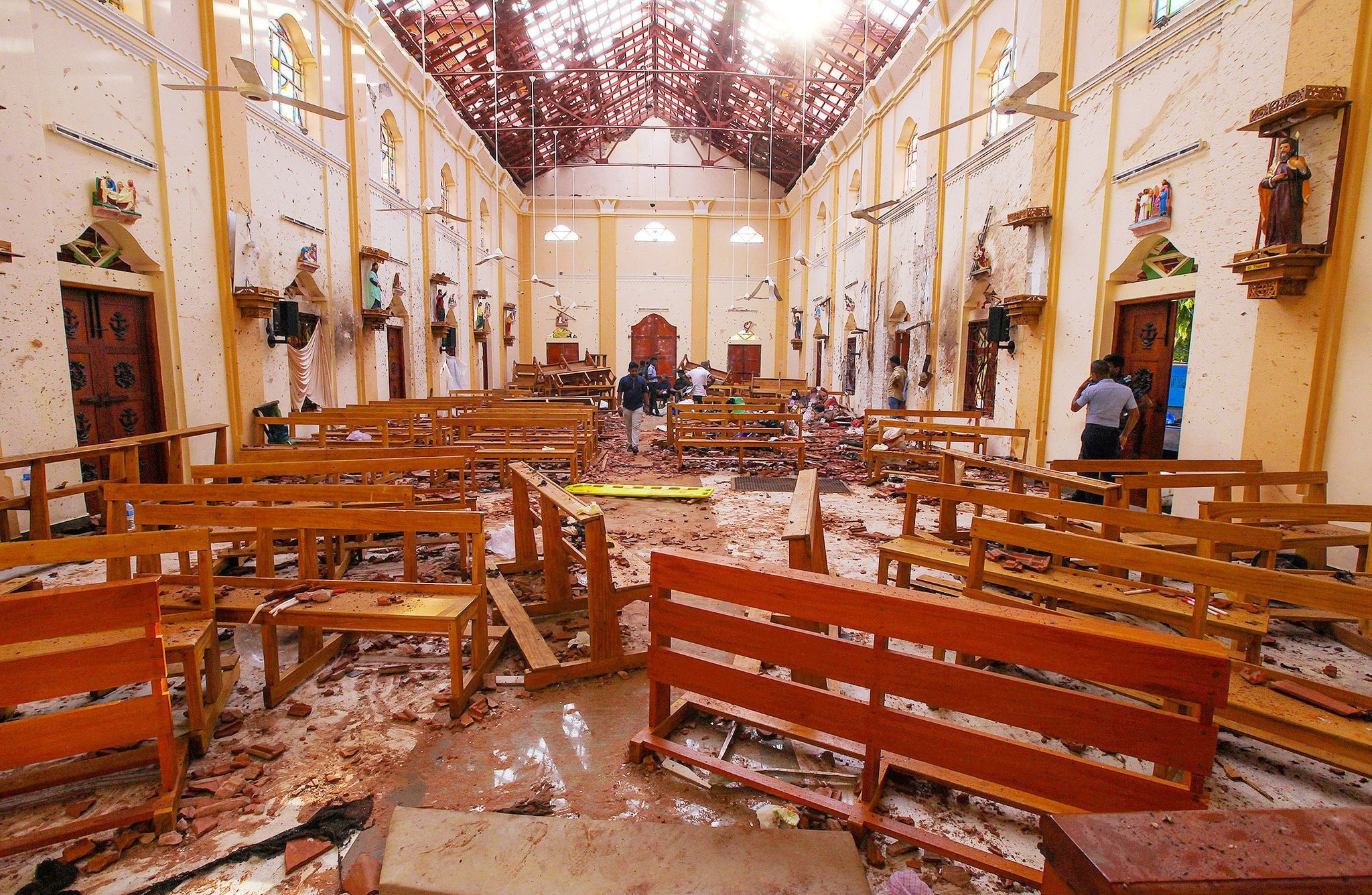 Church in Sri Lanka after the attack