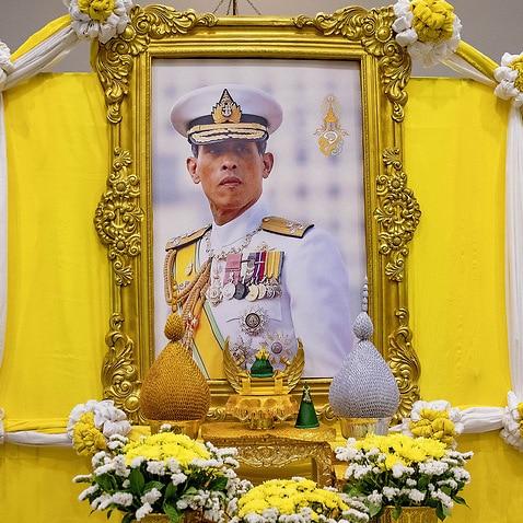 Entourage photos around the coronation of Thai king Rama X.