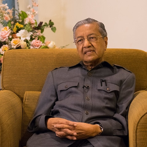 Former Malaysian Prime Minister Mahathir Mohamad speaks to SBS News (Photo: King Chai Woon)
