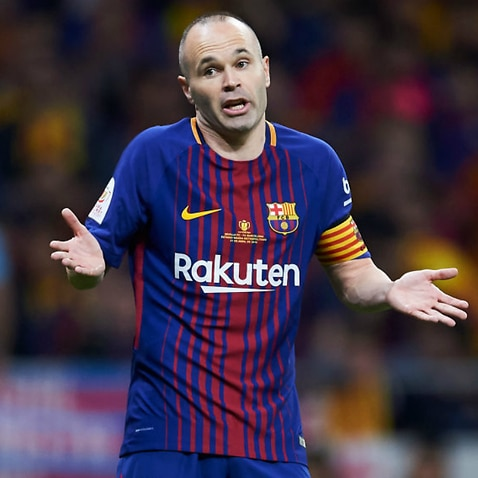 Vissel executive denies deal done for Barcelona's Andres Iniesta