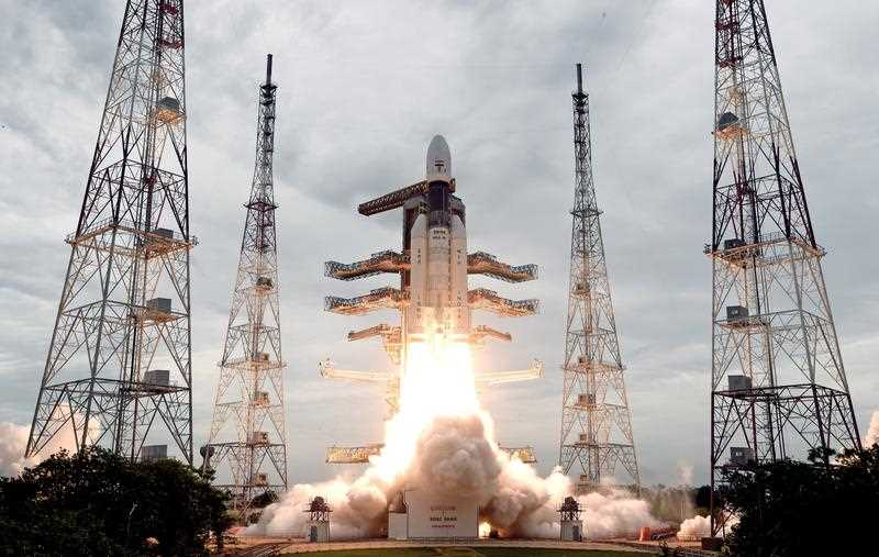 The ISRO orbiter vehicle 'Chandrayaan-2', India's first moon lander, launches.