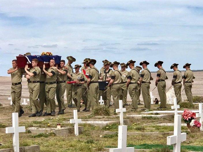 Re-interment of Private Mack Miller, Raukkan SA.