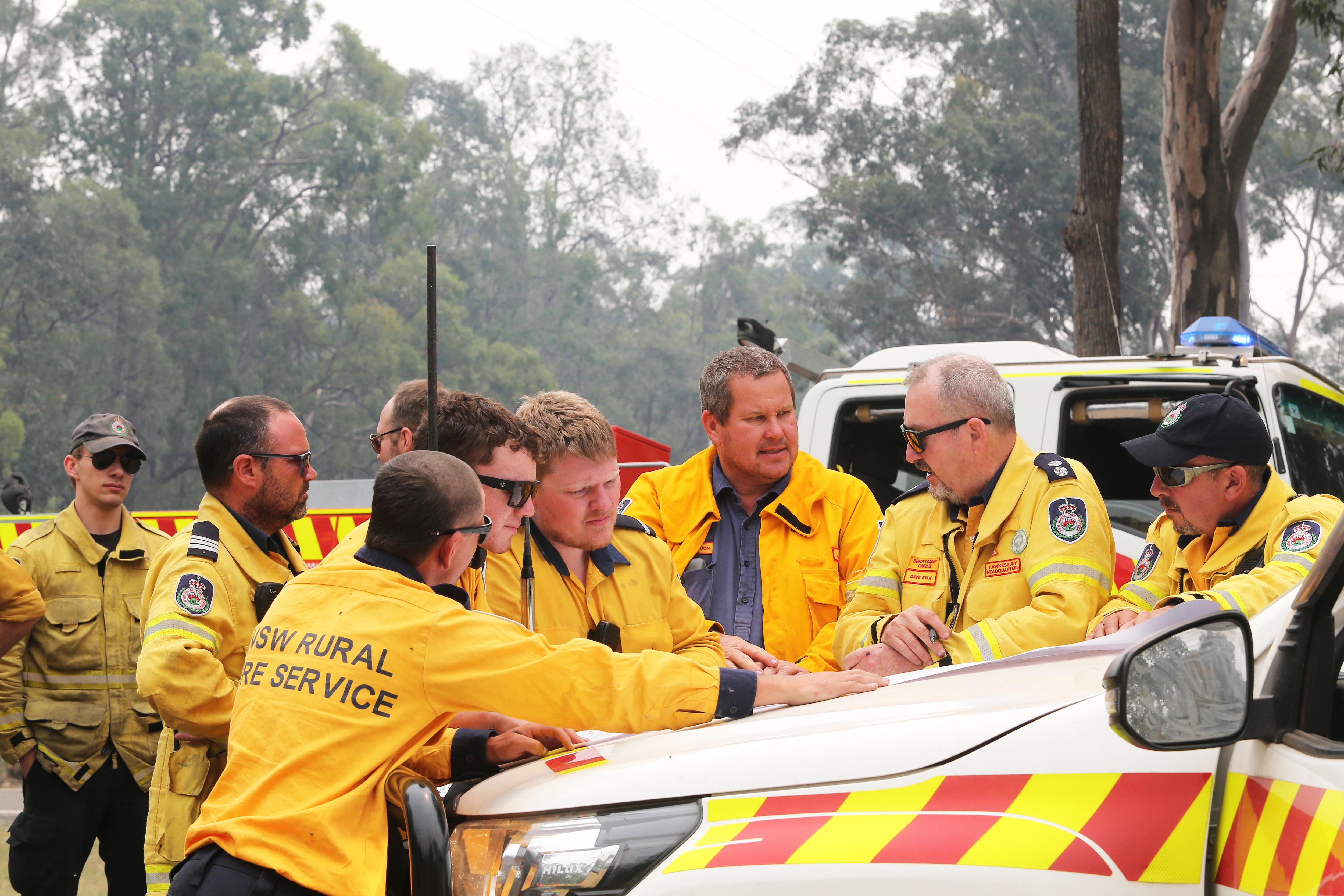 NSW volunteer firefighters