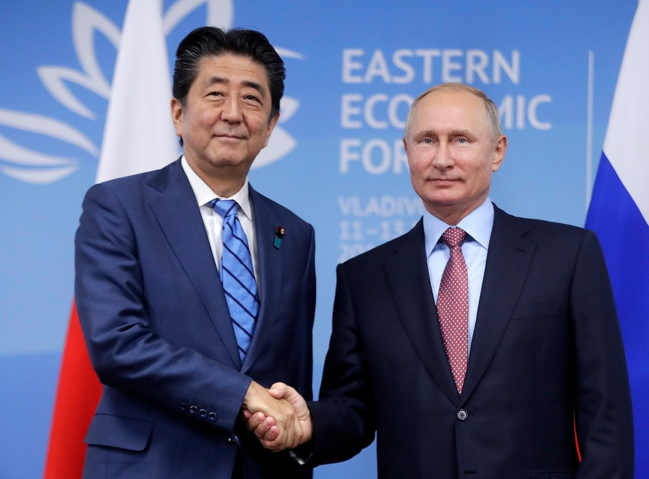 Japanese Prime Minister Shinzo Abe and Russian President Vladimir Putin this week.
