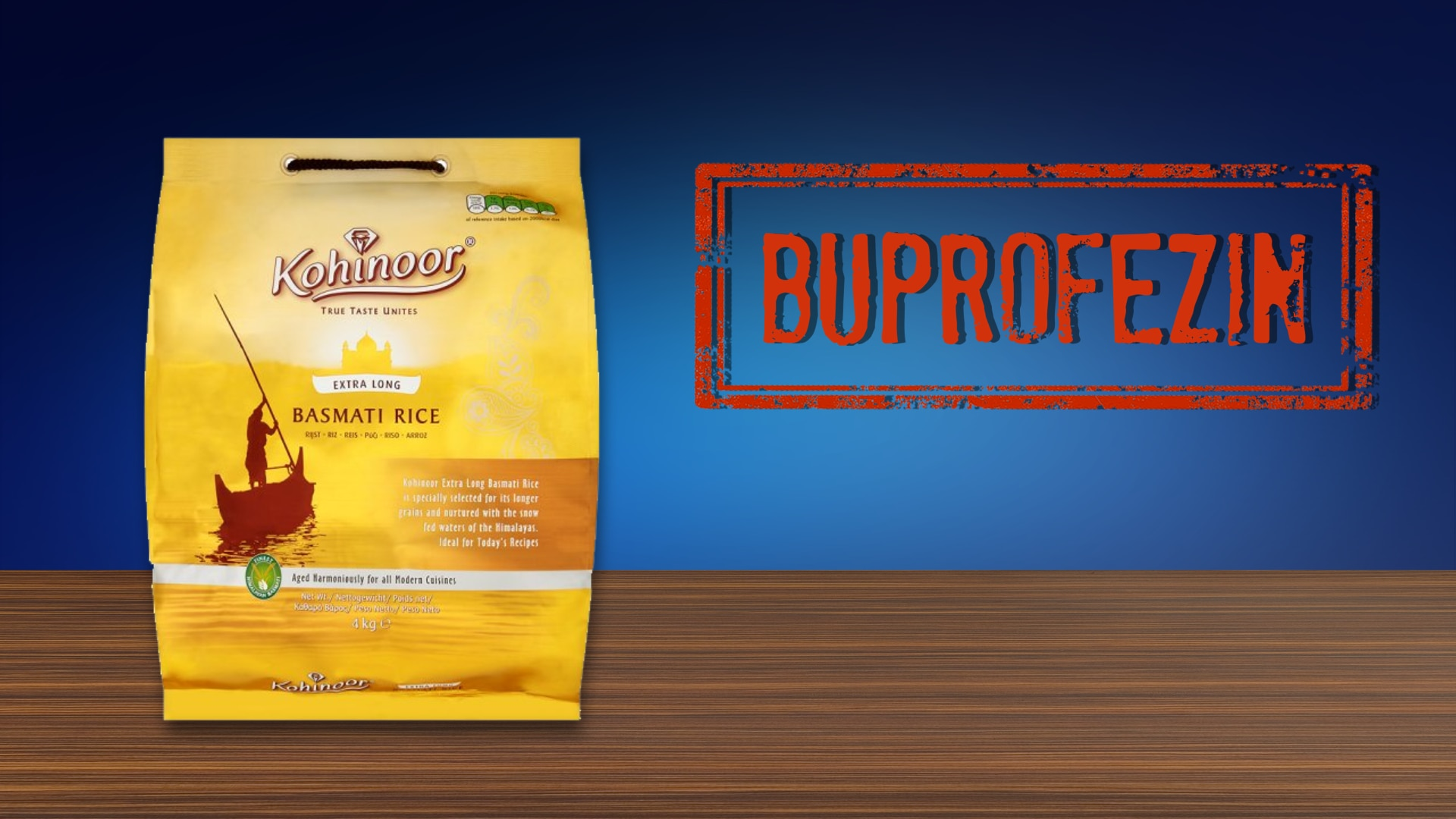 Kohinoor rice found to contain buprofezin