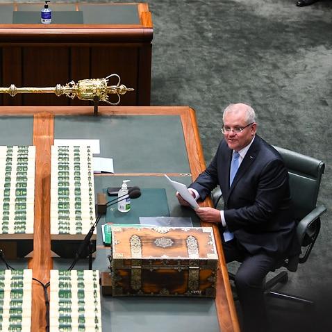 Prime Minister Scott Morrison and Australian Opposition Leader Anthony Albanese.