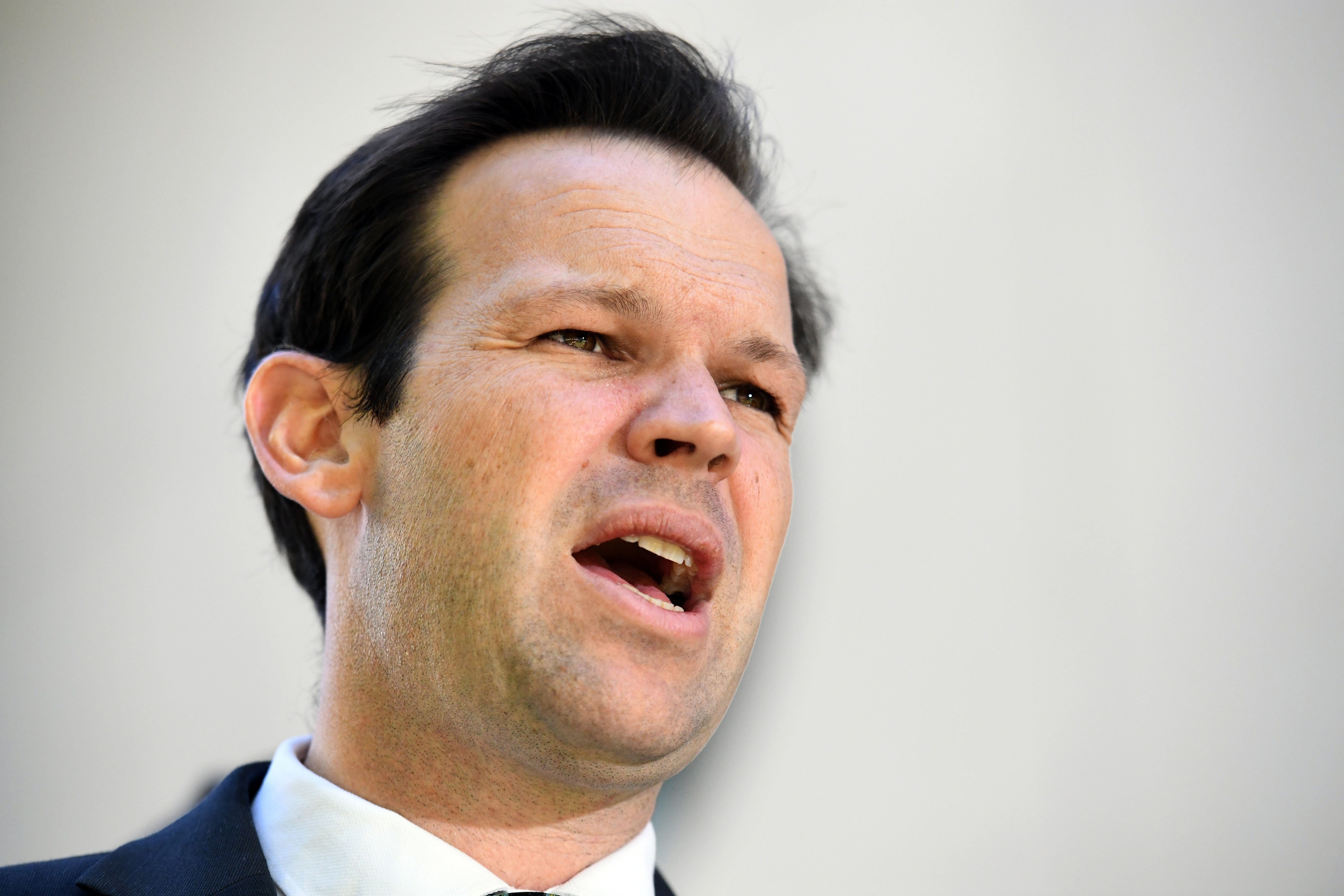 Minister for Resources Matt Canavan at a press conference