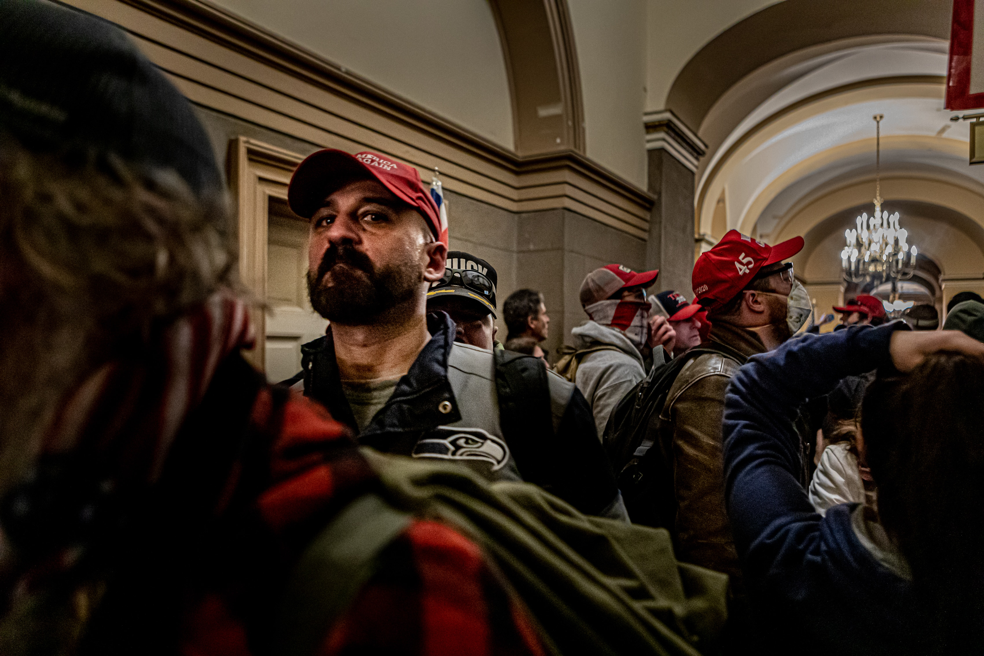 Pro-Trump supporters and far-right forces flooded Washington DC to protest Donald Trump's election loss. on 6 January, 2021.