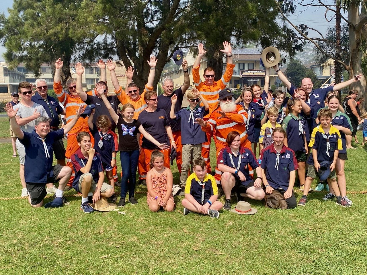 SES and Scouts at the Batemans Bay Australia Day event.