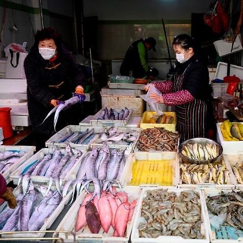 A wet market in Shanghai