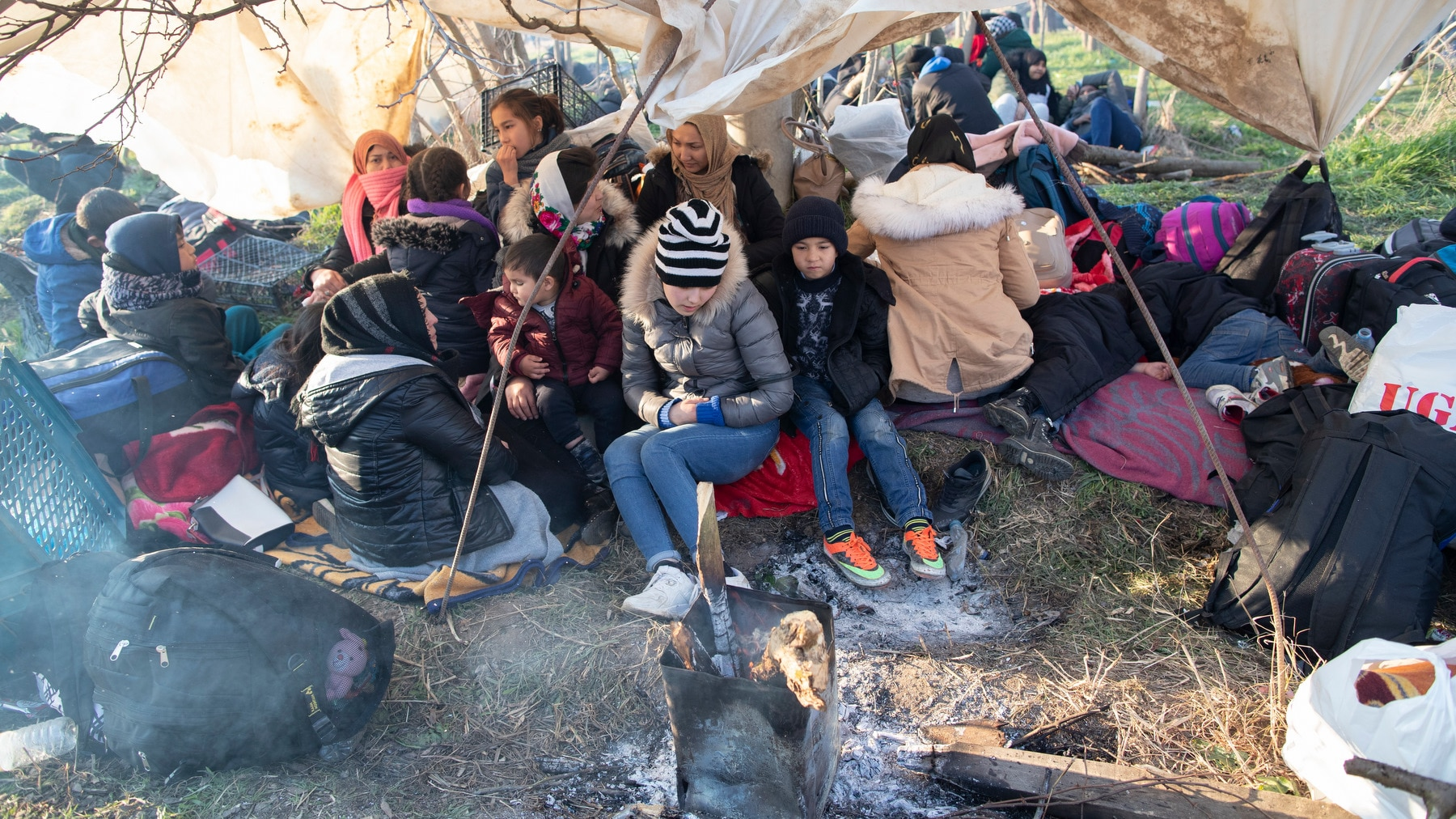 The UN says some 13,000 migrants have gathered along the Turkish-Greek border.