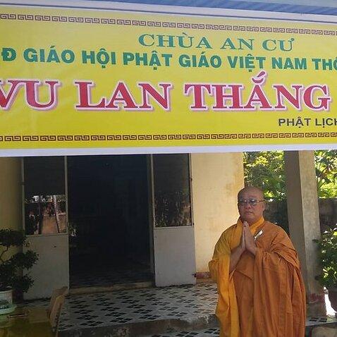 Thượng Tọa Thích Vĩnh Phúc trước chùa An Cư đang có nguy cơ bị phá bỏ nay mai