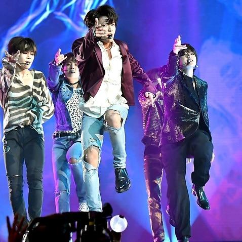 BTS on stage.