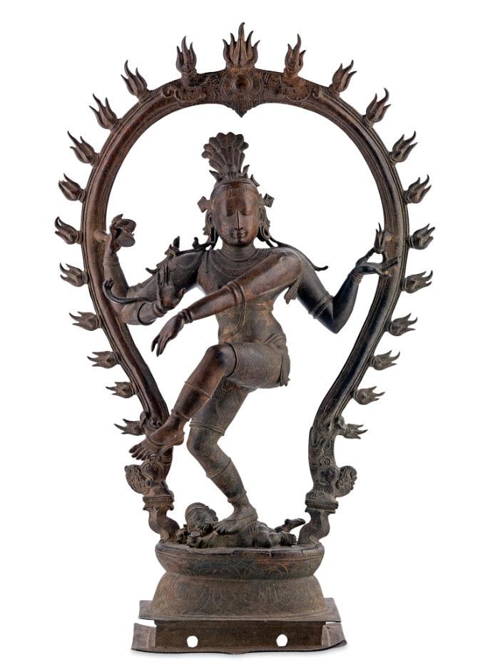India, Southern India, Siva Nataraja (Dancing Siva), c.16th century, Tamil Nadu, South India, bronze, 75.7 cm; Gift of Diana Ramsay AO and AGSA foundation.