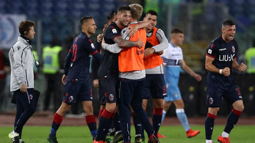 Bologna secure safety in six-goal Lazio thriller