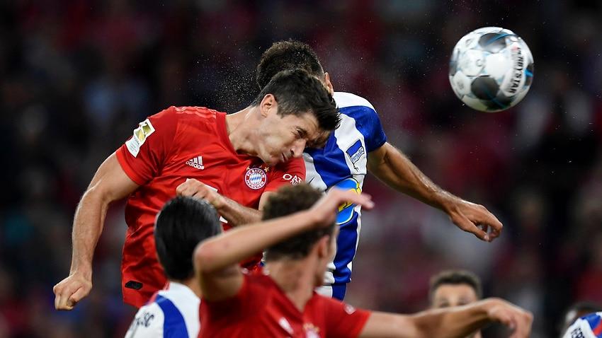 Bayern held by Leckie's Hertha in Bundesliga opener