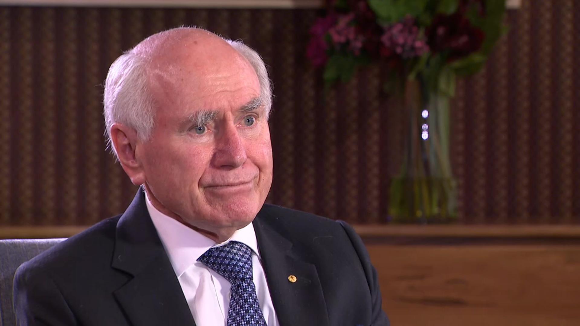 Former PM John Howard speaks with SBS News