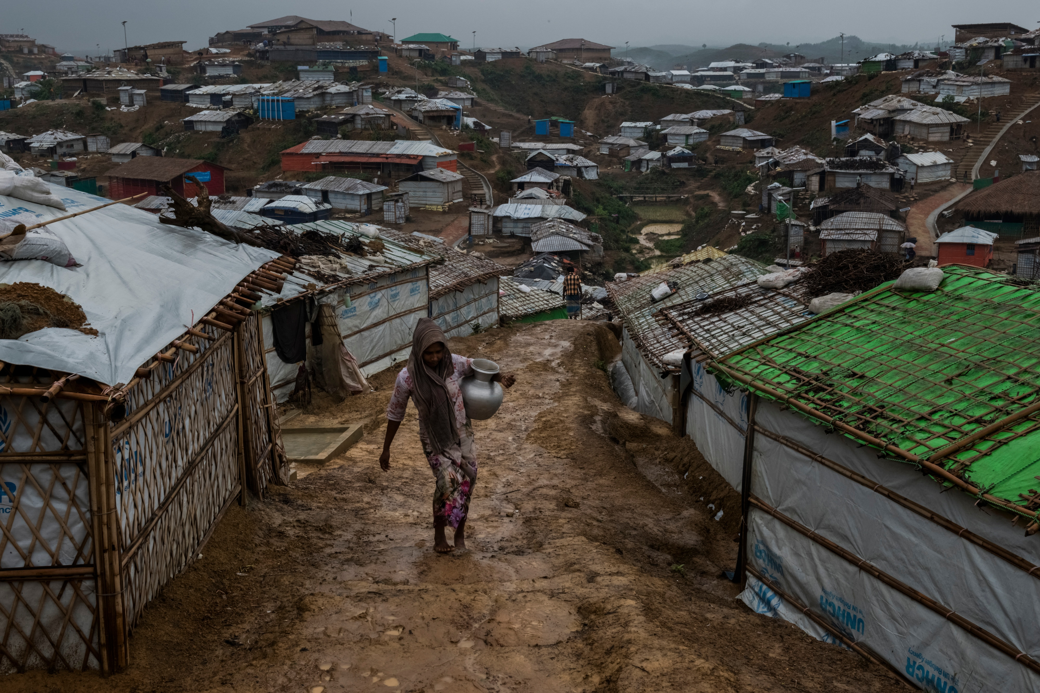 A Rohingya refugee in the Kutupalong camp in Bangladesh. About 2,200 Rohingya Muslims who fled violence in Myanmar last year are set to be repatriated.