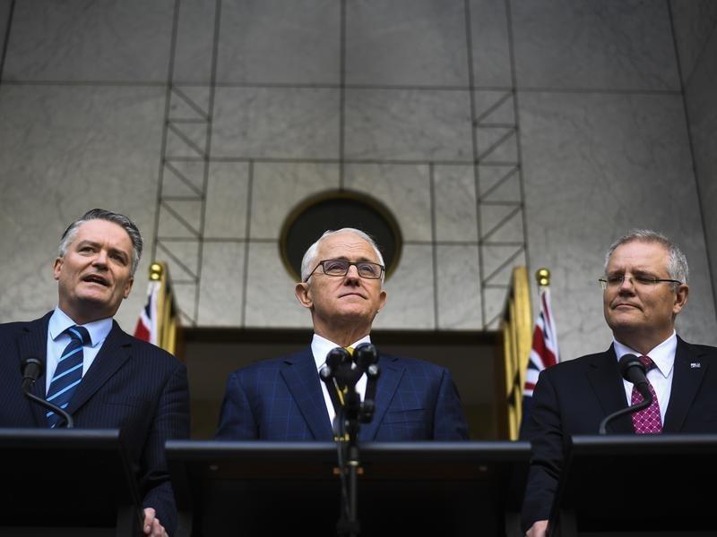 Mathias Cormann, Malcolm Turnbull, Scott Morrison.