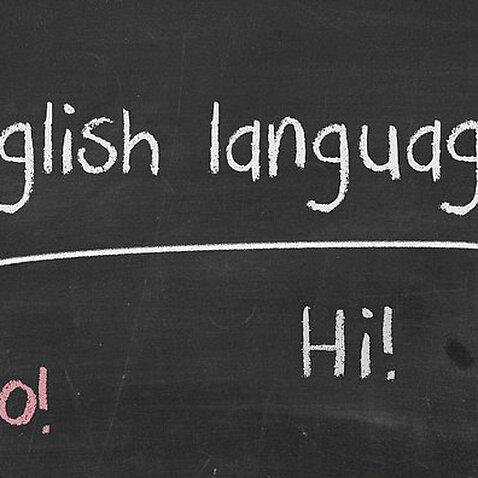 English Class signboard