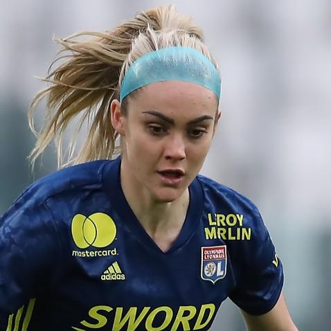 Ellie Carpenter in action for Lyon