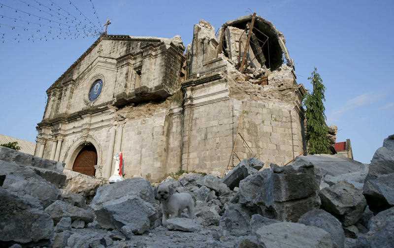 Damage to the Saint Catherine of Alexandria church
