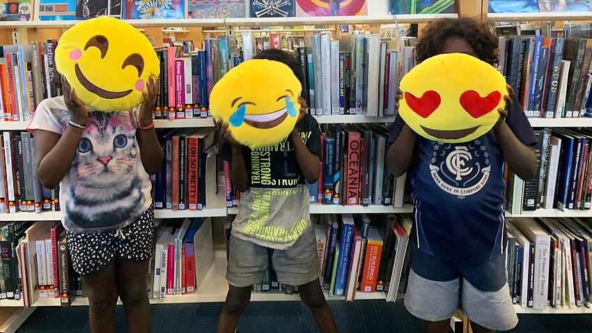 The emojis are being developed by young people on Arrernte country.