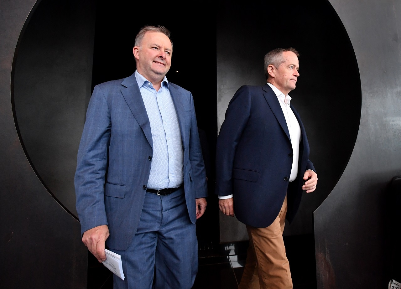 Anthony Albanese and Bill Shorten on the campaign trail.
