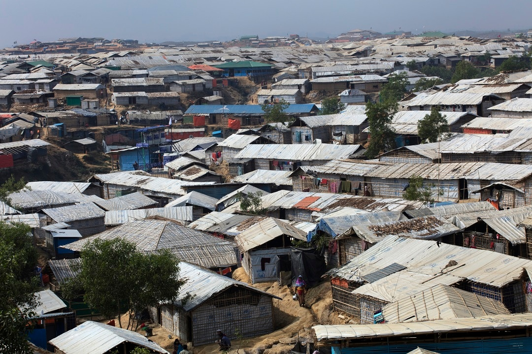The Kutupalong refugee camp in Bangladesh.
