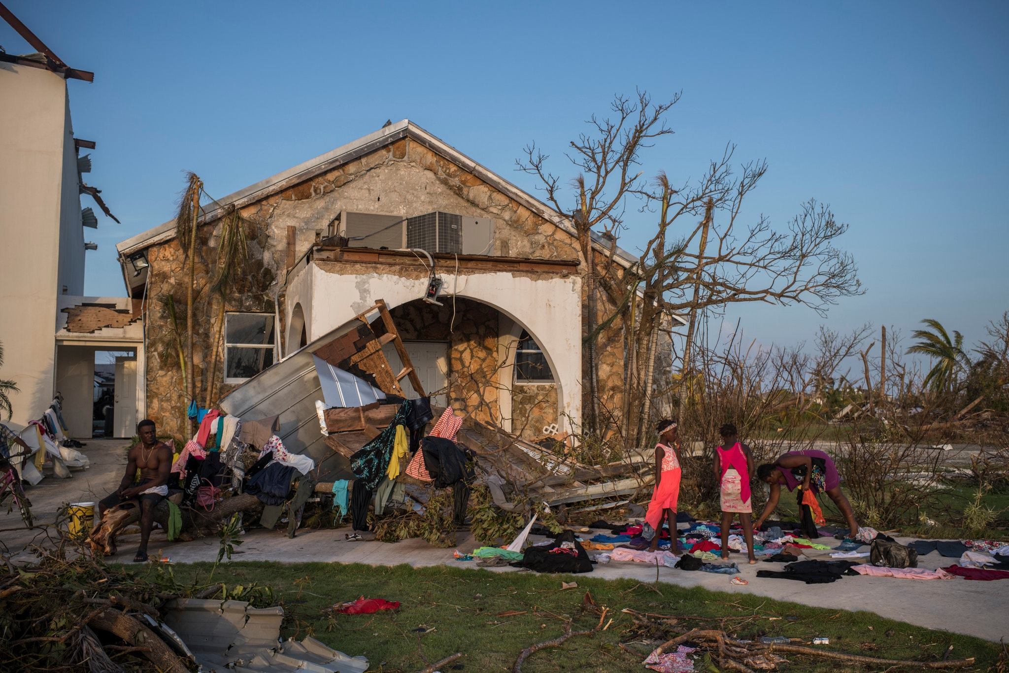 The Abaco Islands in the Bahamas were hit by wild winds.