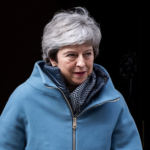 British Prime Minister Theresa May leaves 10 Downing Street.