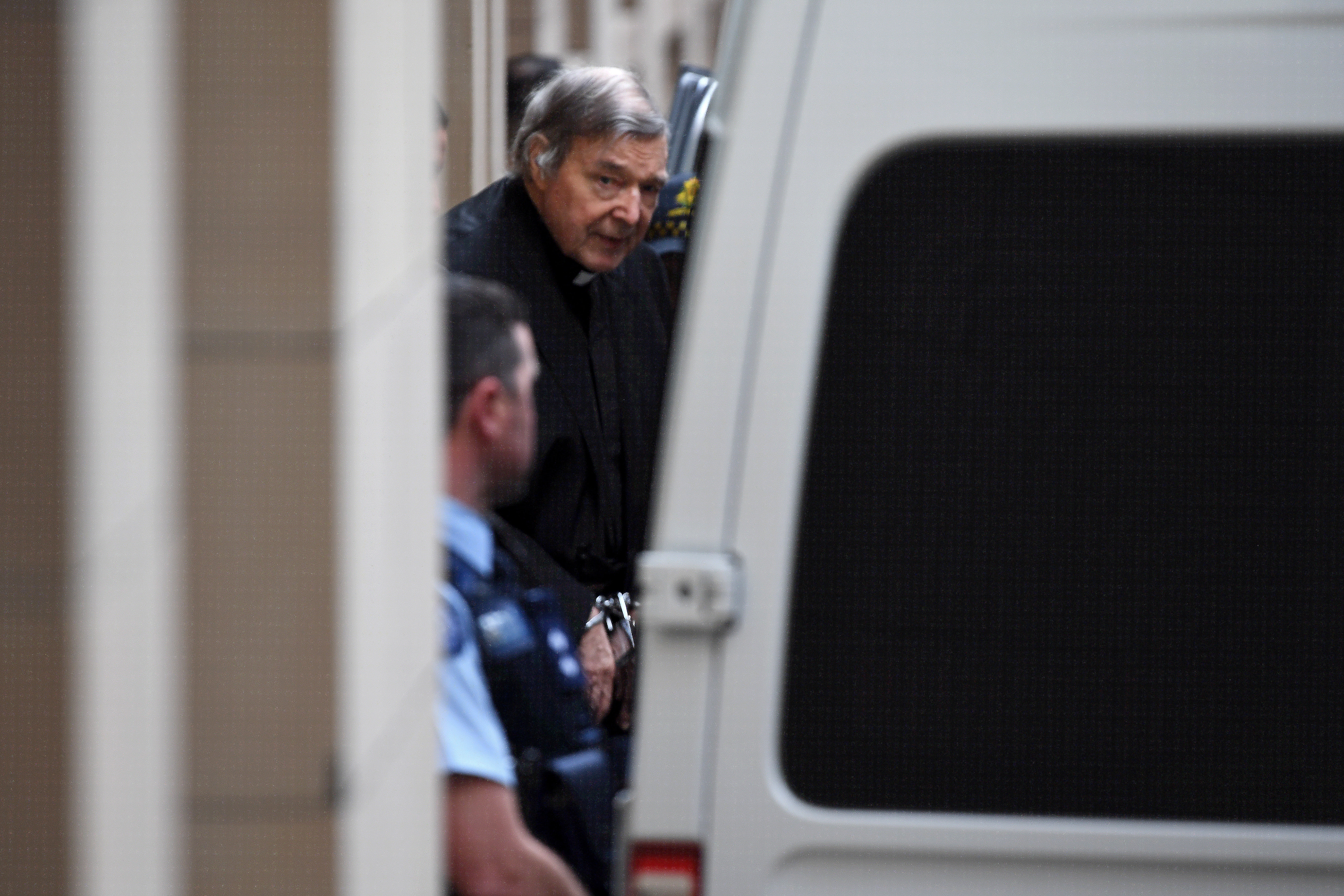 George Pell departs the Supreme Court of Victoria, Melbourne, Wednesday, August 21, 2019
