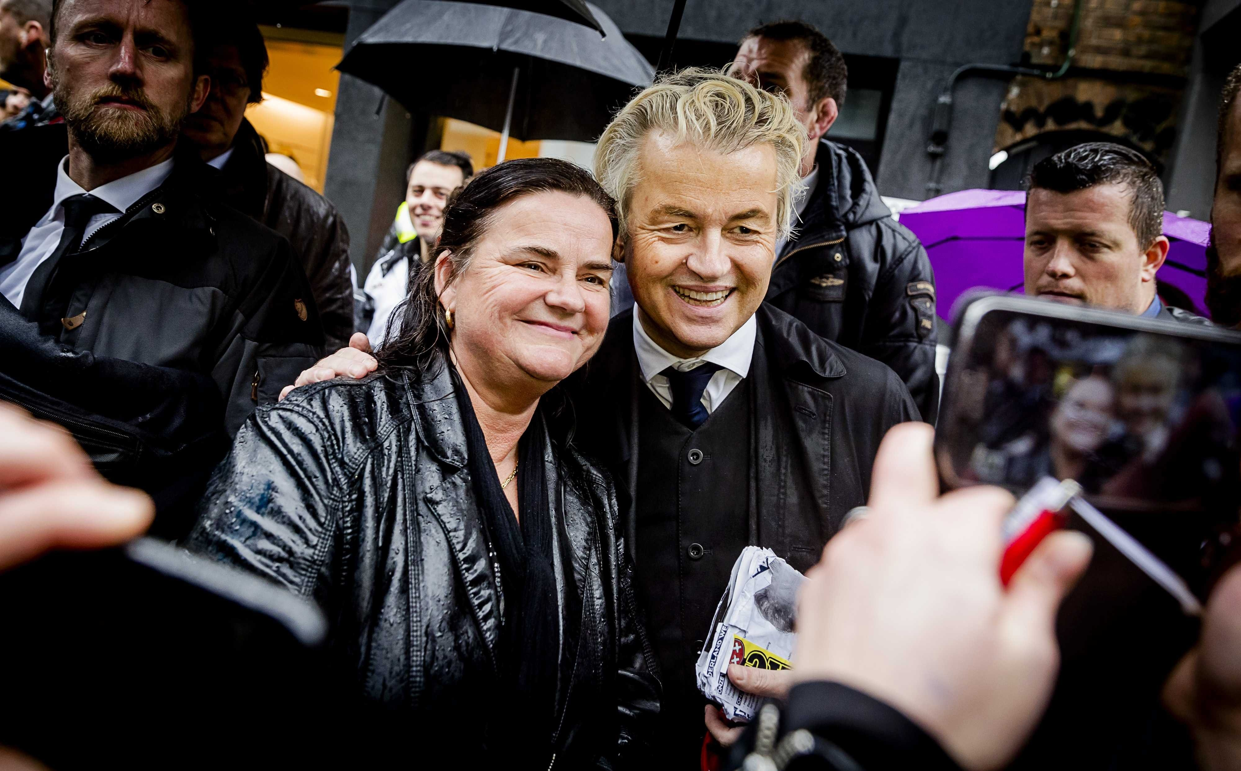 Dutch politician and Party for Freedom leader Geert Wilders campaigns in Breda, The Netherlands, 08 March 2017.