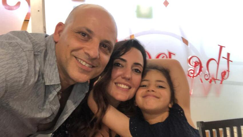 Angelo Di Franco with his wife and seven-year-old daughter.