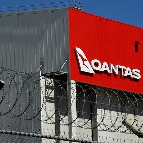 Qantas signage at Sydney Airport